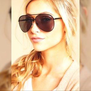 Quay Vivienne Black Smoke Oversized Sunglasses NEW